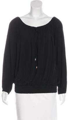 Michael Kors Long Sleeve Pleated Blouse