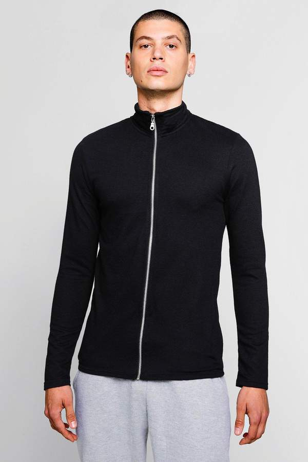boohoo Muscle Fit Lightweight Track Jacket
