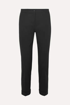 Etro Cotton-blend Twill Slim-leg Pants - Black