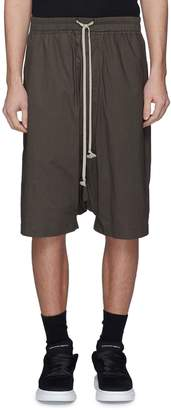 Rick Owens 'Pod' drop crotch poplin shorts