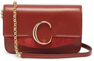 Chloé 'Chloe C' suede panel mini leather shoulder bag