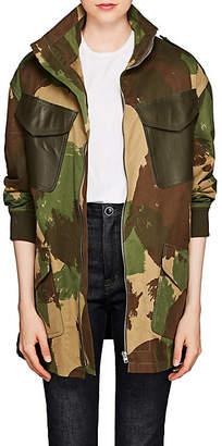 Victoria Beckham Women's Camouflage Cotton Field Jacket - Khaki-Brown