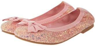 Monsoon Girls Daria Elastic Glitter Ballerina Shoe