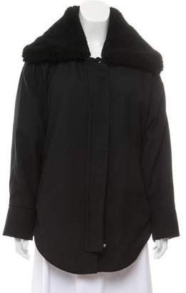 IRO Onae Shearling-Trim Coat