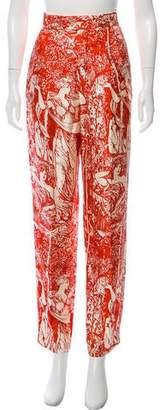 Celine High-Rise Printed Pants