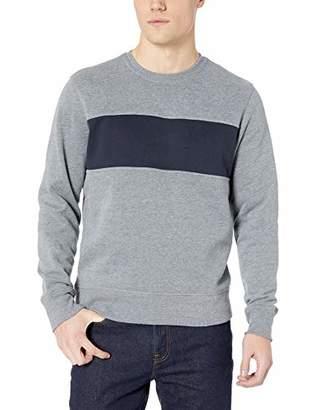 Amazon Essentials Men's Crewneck Fleece Chest Stripe Sweatshirt