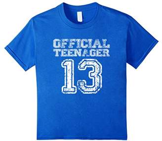Official Teenager T Shirt - Funny 13th Birthday Girls Boys