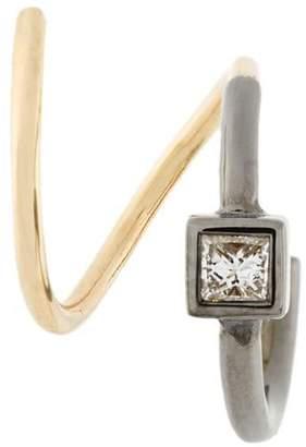 Maria Black Ava Noir twirl diamond earring