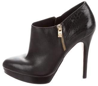 MICHAEL Michael Kors Leather Round-Toe Ankle Boots