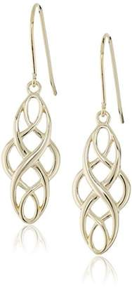 Celtic 18k Yellow Gold Plated Sterling Silver Knot Dangle Earrings