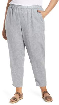 Eileen Fisher Organic Linen Slouchy Ankle Pants