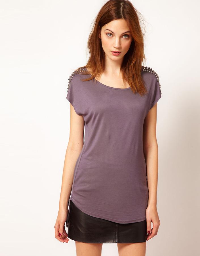 Warehouse Stud Shoulder T-Shirt