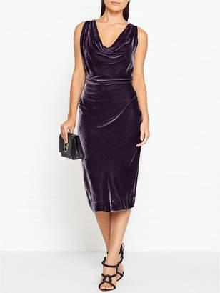 Vivienne Westwood Virginia Velvet Dress - Dark Grey