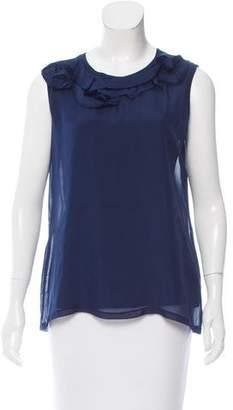 Lanvin Silk Sleeveless Top