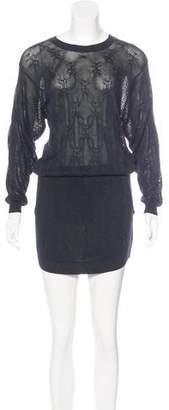 Theyskens' Theory Silk-Blend Sweater Dress