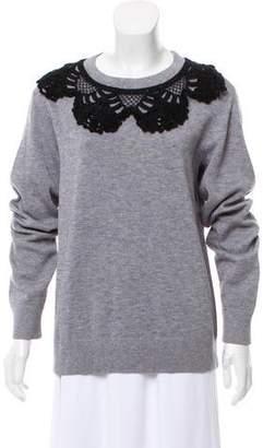 Marc Jacobs Embroidered Crew Neck Sweatshirt