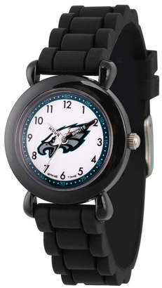 EWatchFactory Gametime Nfl Philadelphia Eagles Kids' Black Plastic Time Teacher Watch