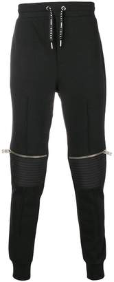 Les Hommes Urban zipped knee track pants