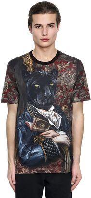 Panther Printed Cotton Jersey T-Shirt $395 thestylecure.com