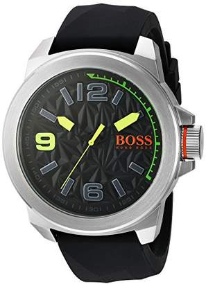 HUGO BOSS BOSS Orange Men's Quartz Stainless Steel and Silicone Watch