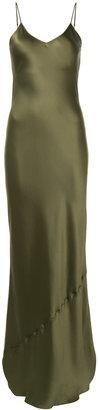 slip sleeveless gown