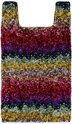 Ashish Rainbow Wave sequin-embellished cotton tote