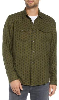 Treasure & Bond Regular Fit Print Western Sport Shirt