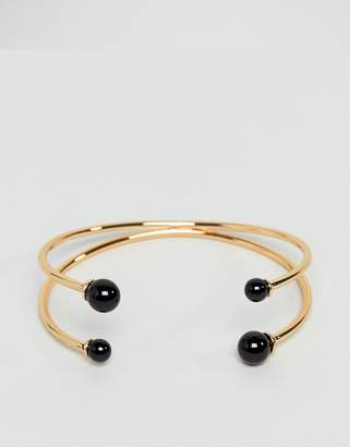 Asos DESIGN Ball End Cuff Bracelet