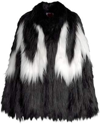 House Of Fluff Convertible Cape Faux Fur Jacket