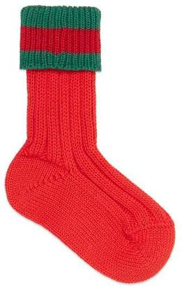 Gucci Knitted socks with Web