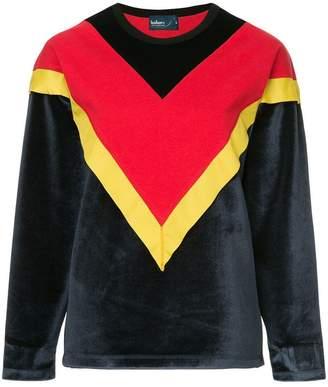 Kolor colour block chevron sweatshirt