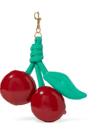 Anya Hindmarch Chubby Patent-leather Keychain - Red