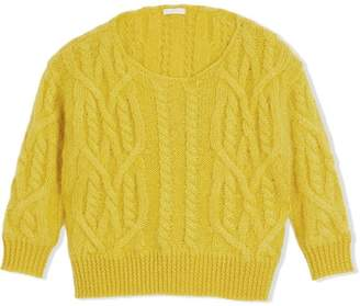 Burberry Cable Knit Mohair Wool Sweater