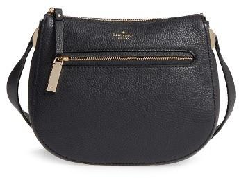 Kate SpadeKate Spade New York Hopkins Street - Alannis Leather Crossbody Bag - Black
