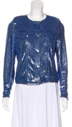 IRO 2018 Dalome Sequin Button-Up jacket
