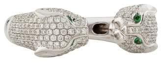 Anita Ko 18K Diamond Double Panther Head Ring