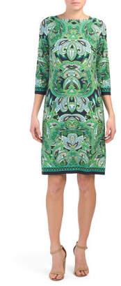 Paisley Print Jersey Shift Dress