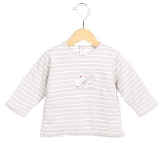 Catimini Girls' Striped Printed Top
