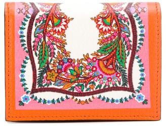 Etro floral print snap wallet