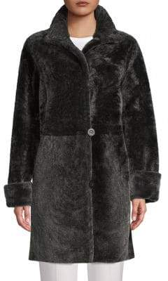 Blue Duck Reversible Shearling & Leather Coat