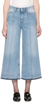Alexander McQueen Blue Denim Culottes