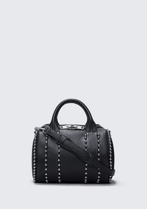 Alexander Wang BALL STUD ROCKIE IN MATTE BLACK WITH RHODIUM