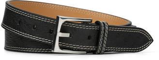 Donald J Pliner FRANCO, Ostrich Embossed Leather Belt