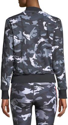 Wear It To Heart Camo-Print Reversible Long-Sleeve Bomber Jacket
