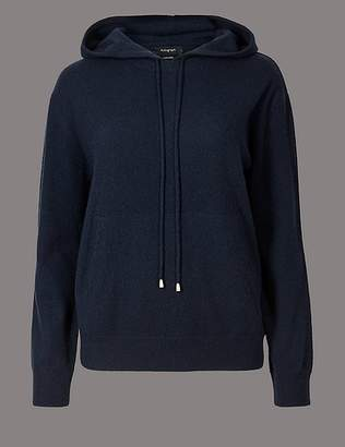 Marks and Spencer Pure Cashmere Hooded Jumper