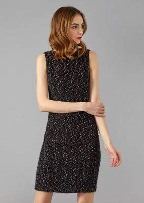Giorgio Armani Sleeveless Boucle Knit Sheath Dress