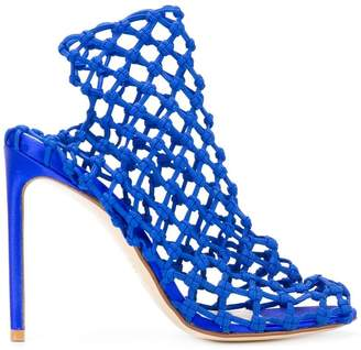 Francesco Russo Klein caged heel sandals