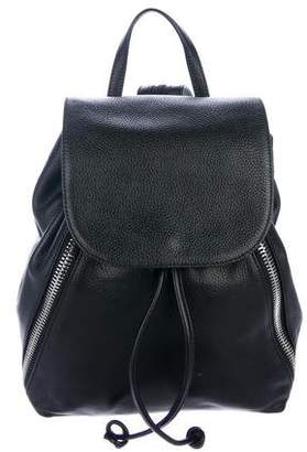 Rebecca Minkoff Grained Leather Drawstring Backpack
