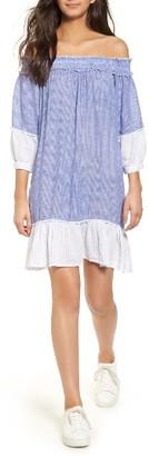 Women's Rails Camilla Off The Shoulder Dress $158 thestylecure.com