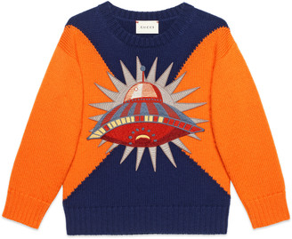 Children's wool sweater with UFO $620 thestylecure.com